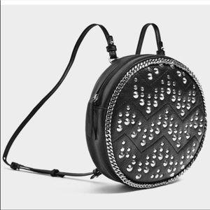 Zara Leather Studded Backpack